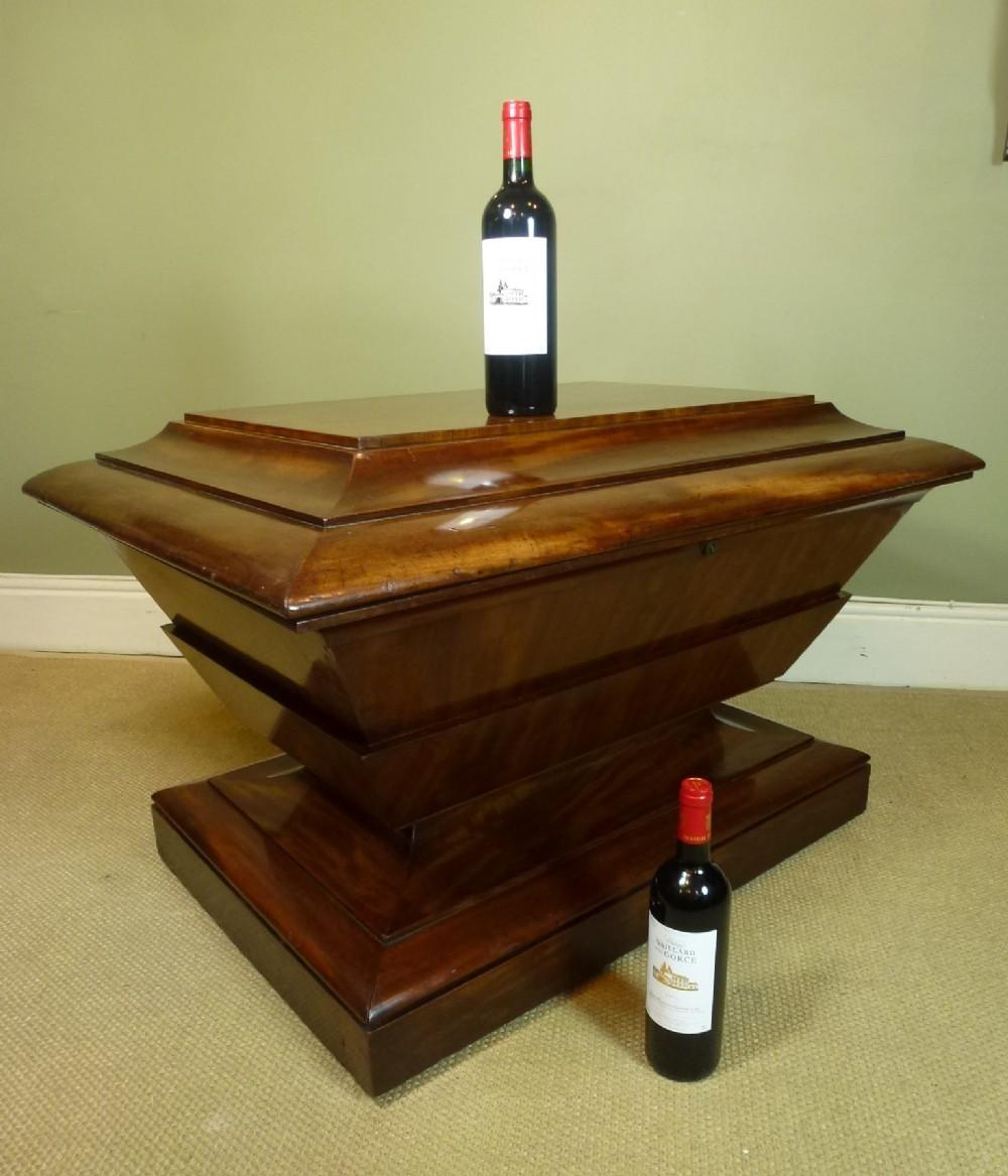 substantial antique wine cellaret