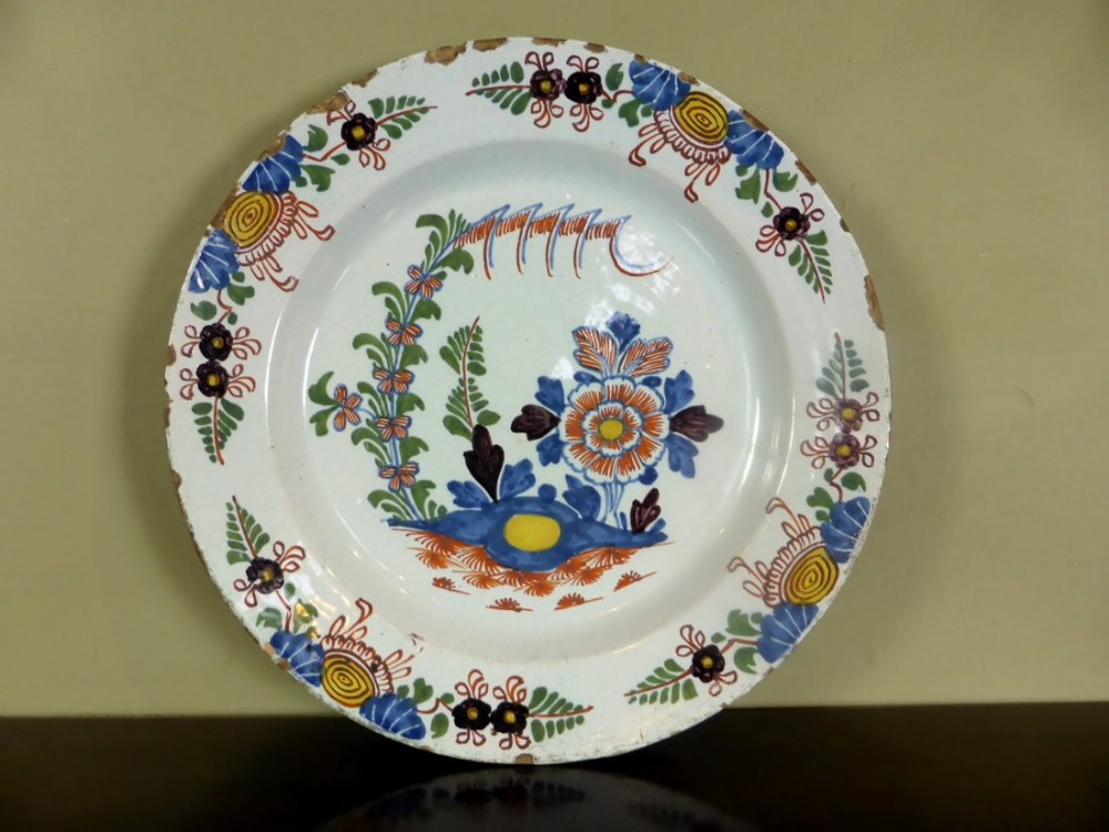 18th c delft charger