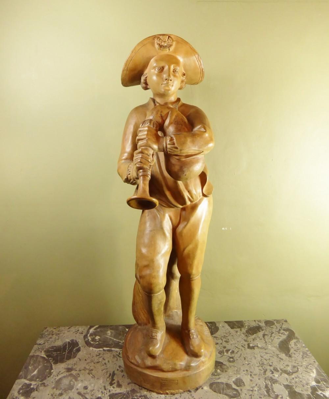 large 19th c terracotta figure
