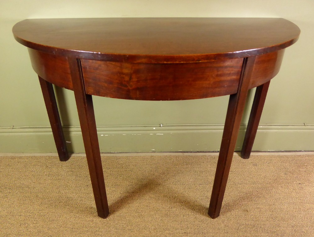 a demi lune table