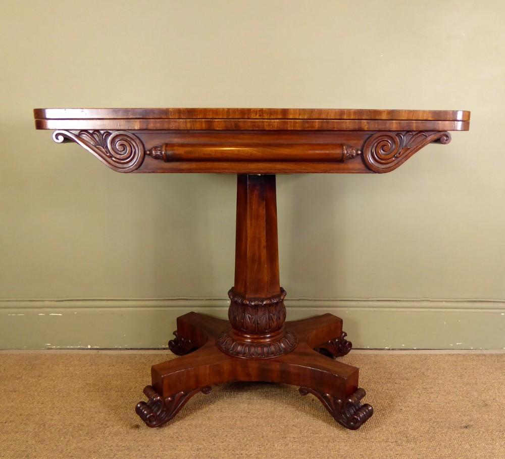 william iv mahogany tea table c1830