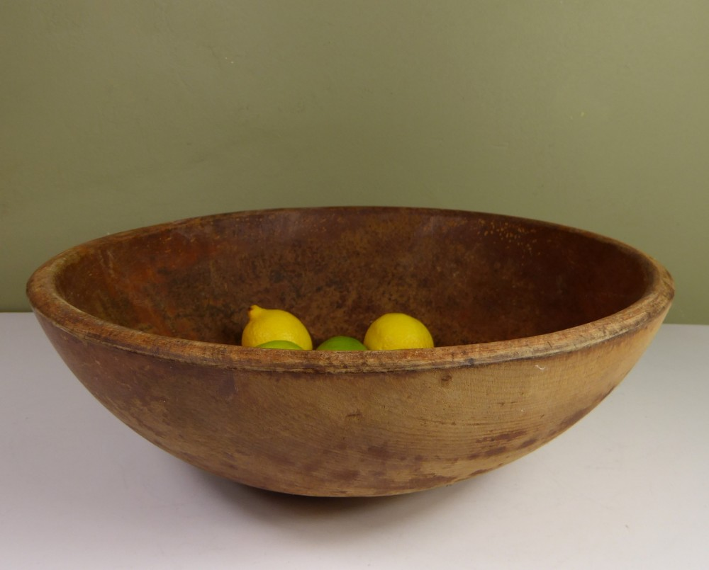19th c sycamore dairy bowl