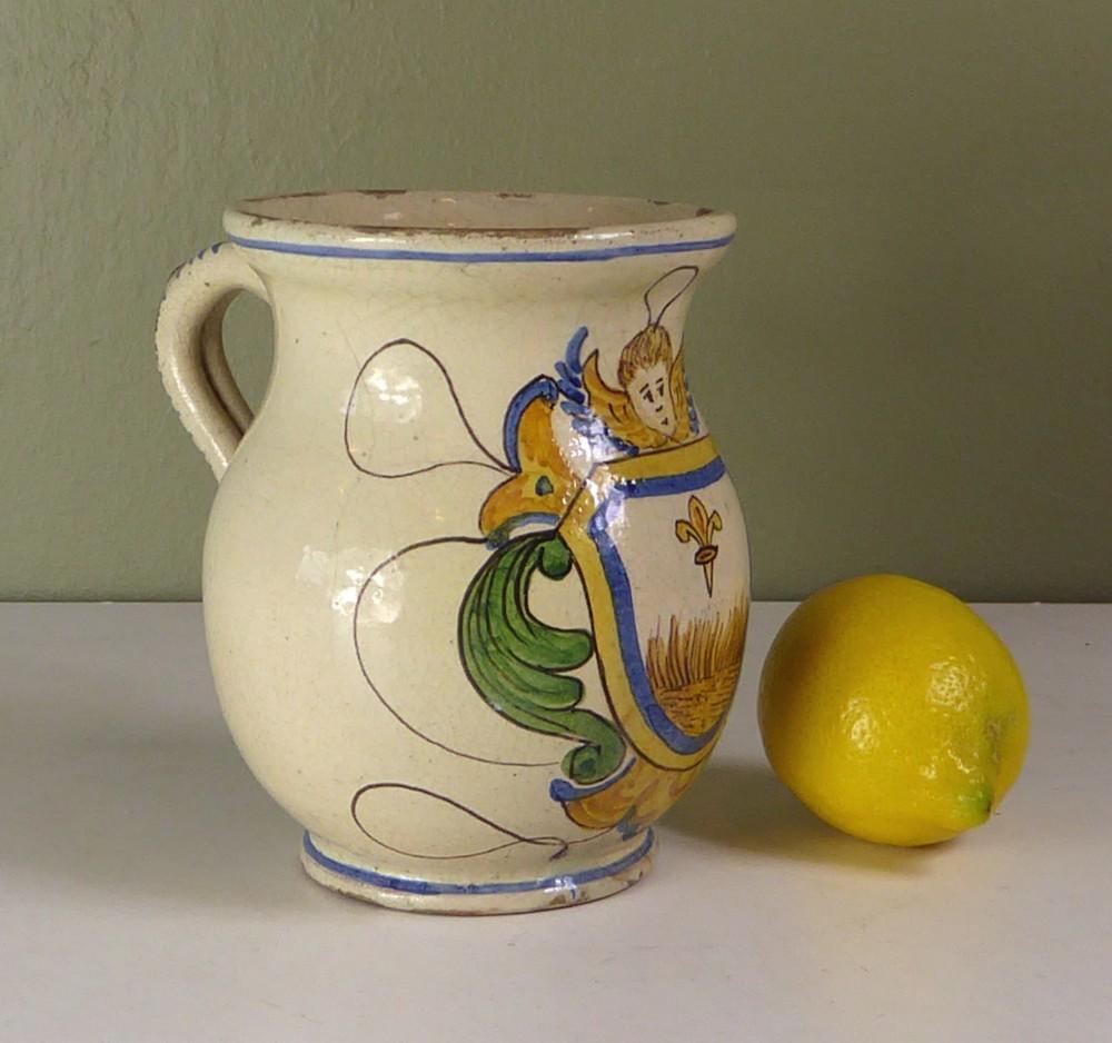 a tin glazed mug