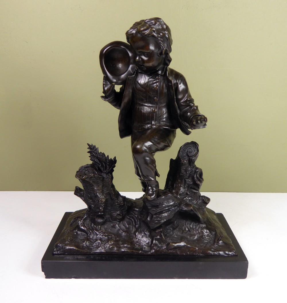 a 19th c bronze figure