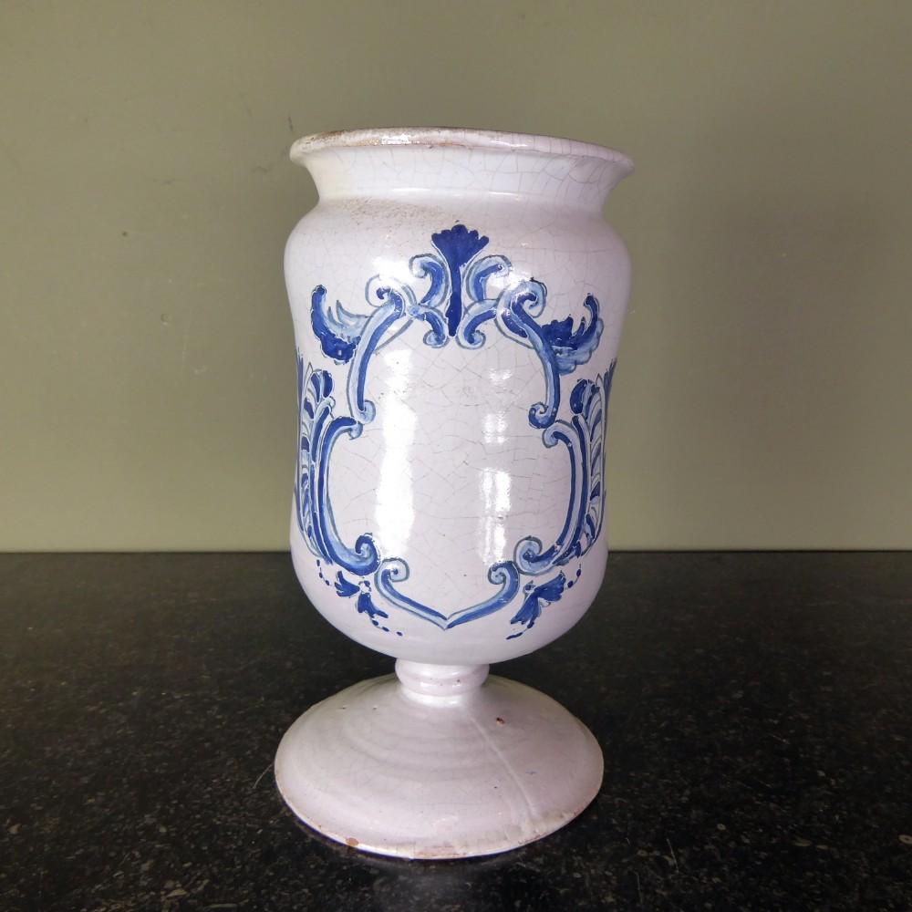 18th c delft apothecary jar
