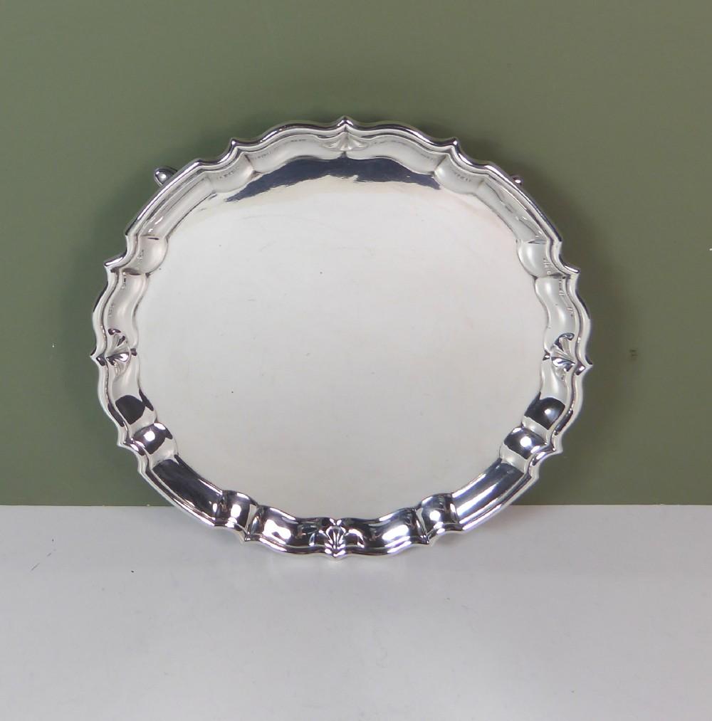 solid silver salver 1905