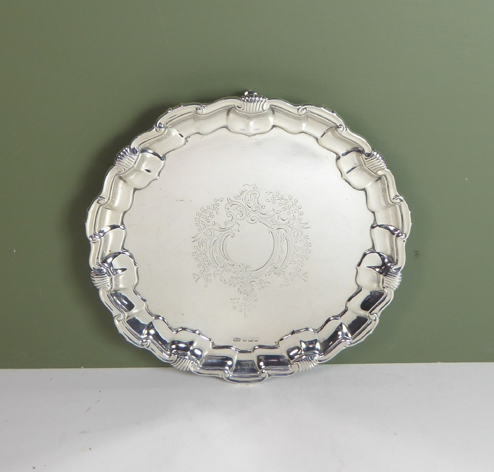 solid silver mappin webb salver 1898