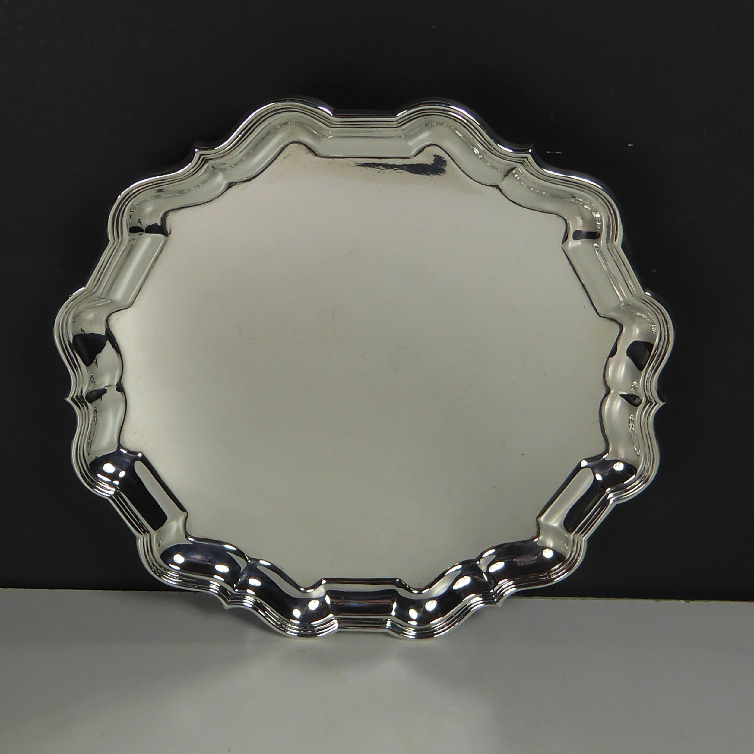 solid silver salver by mappin webb