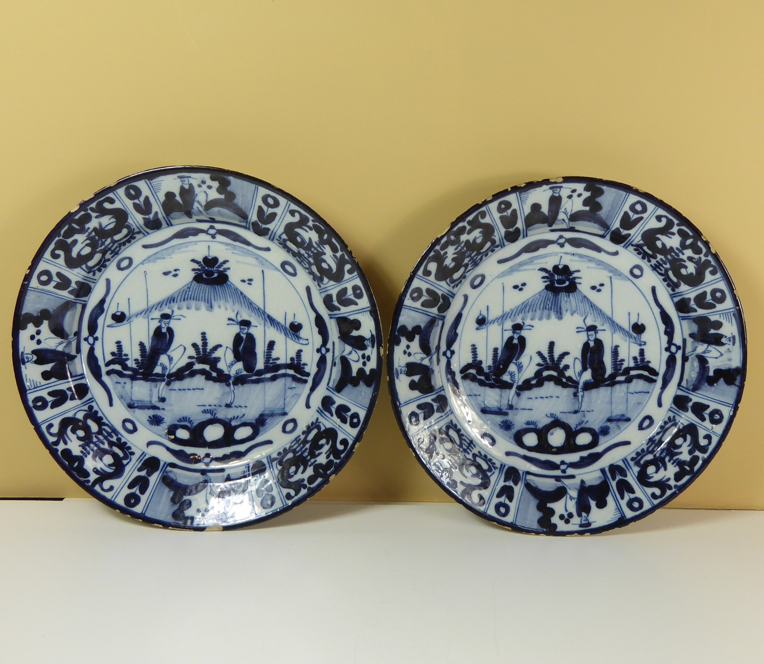 pair of early delft chargers
