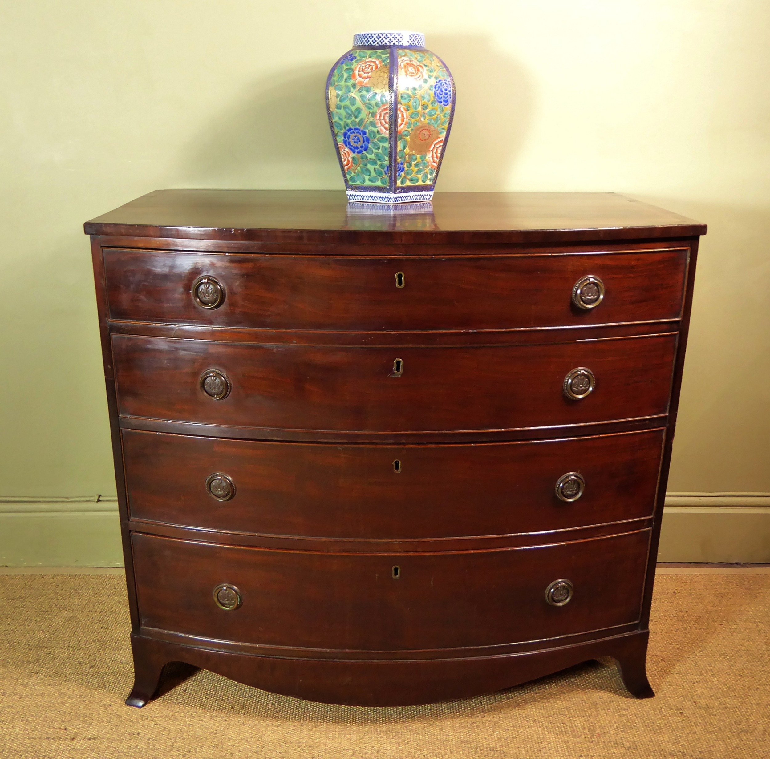 early 19th c mahogany chest of drawers