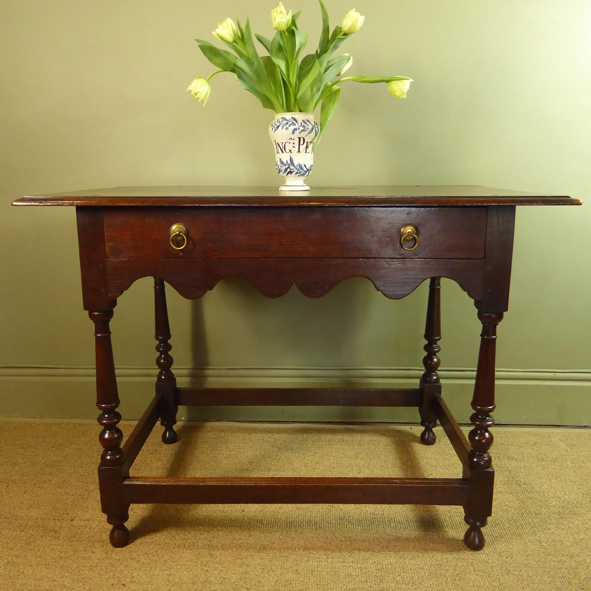 early 18th c oak side table