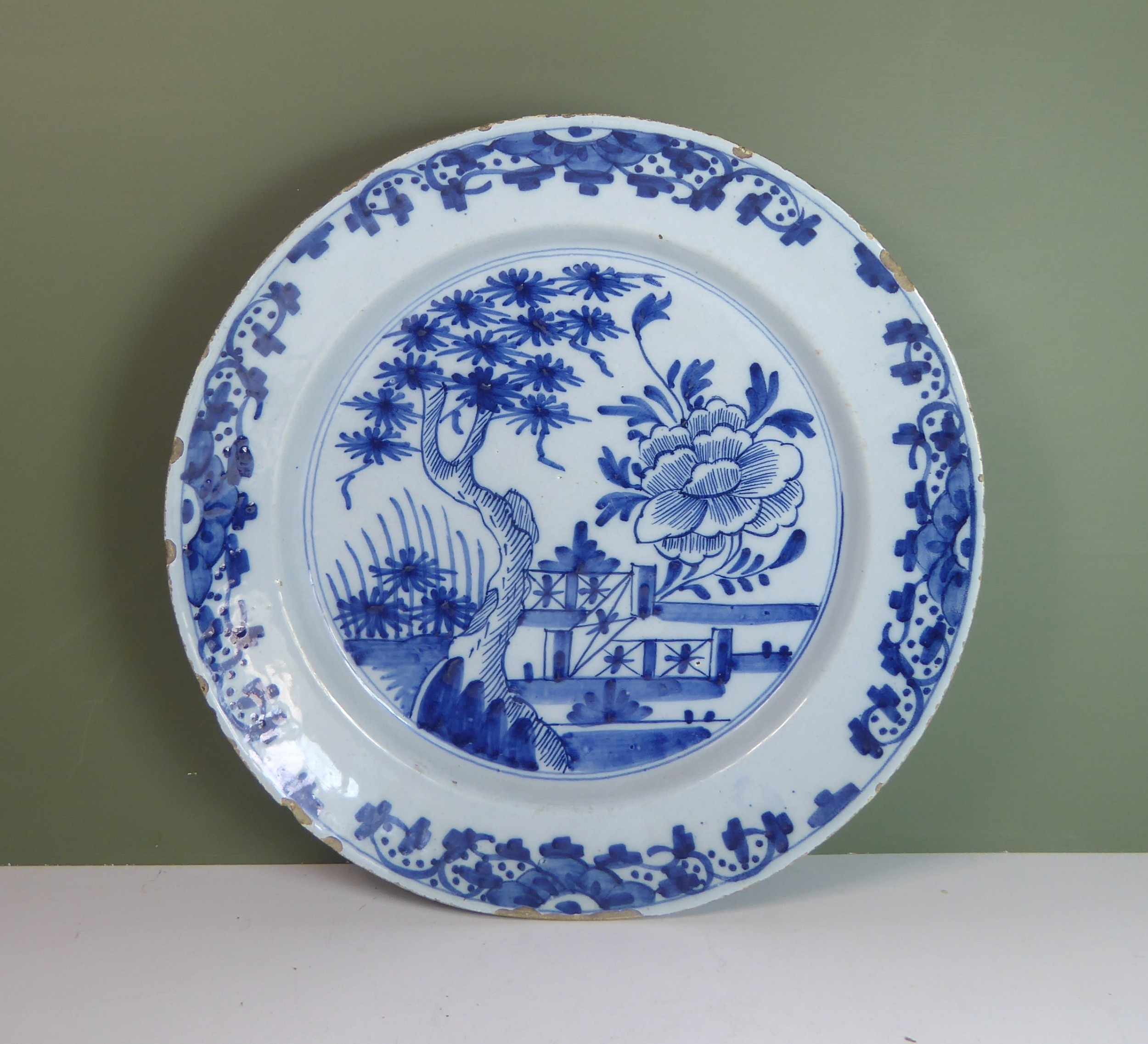 18th c delft charger plate