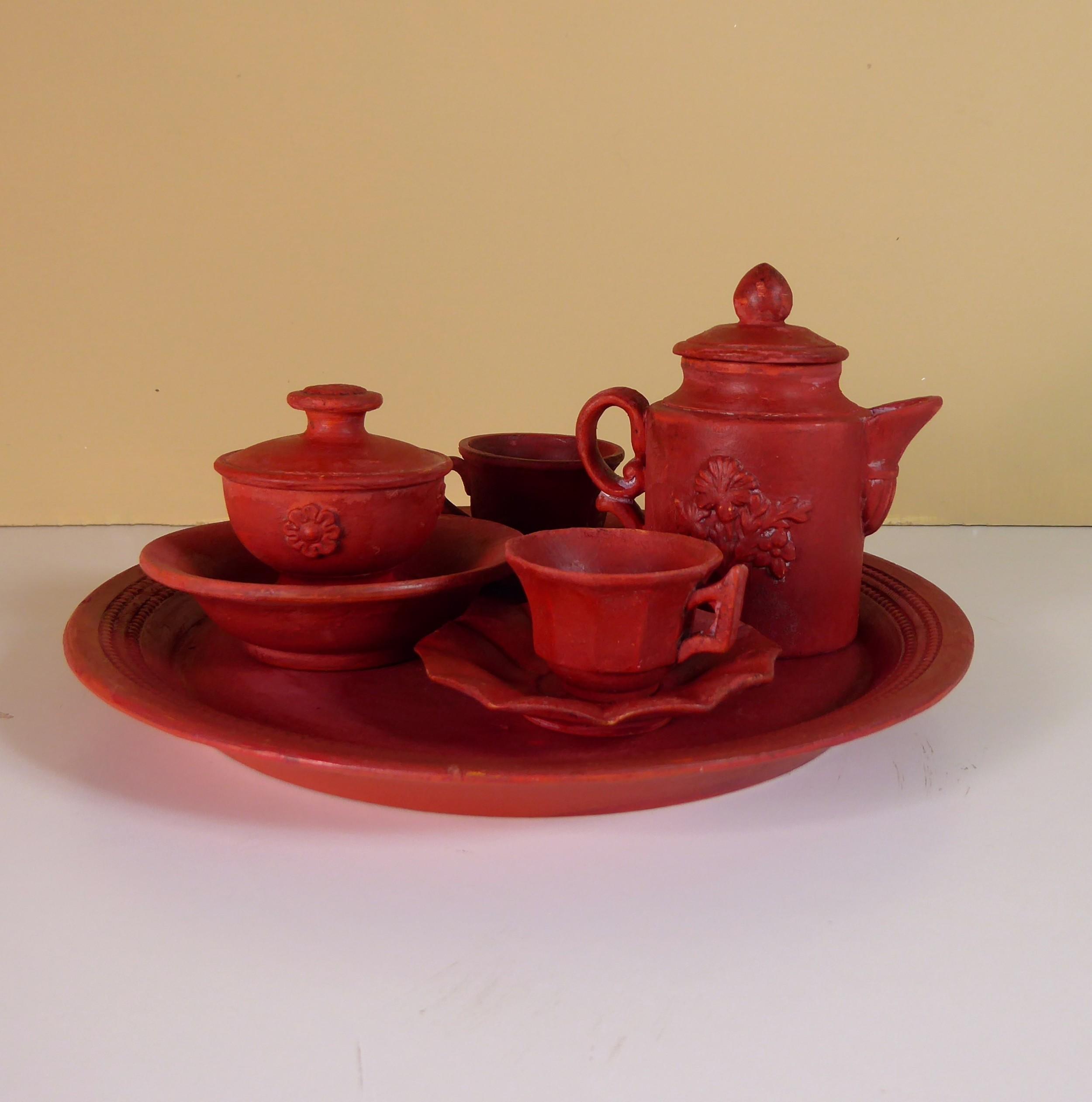19th c miniature tea set