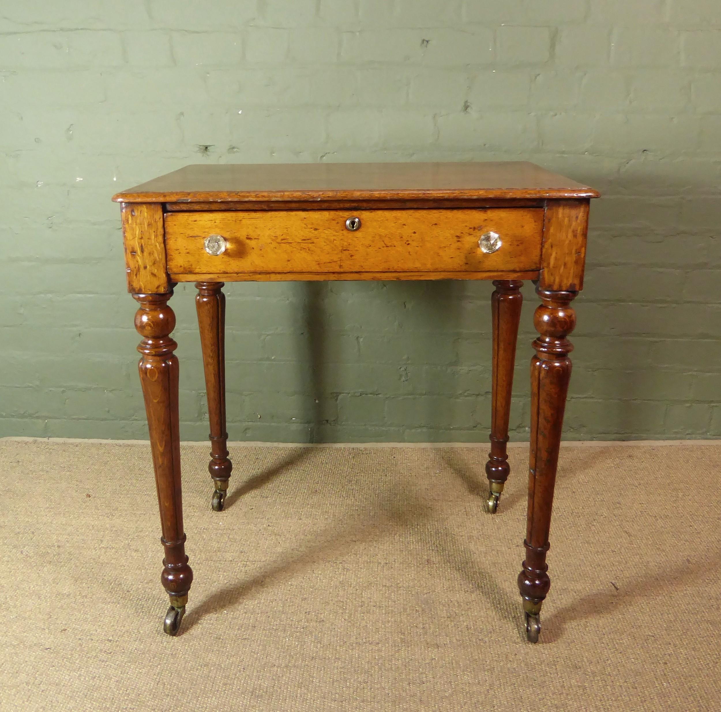 19th c oak side table