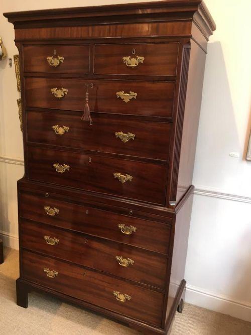 a fine georgian mahogany tallboy chest