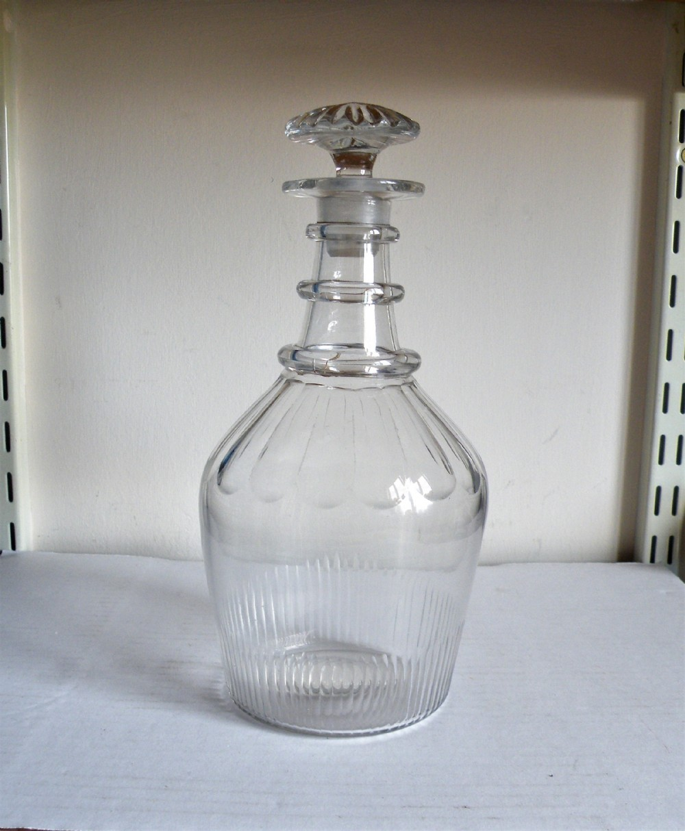 a good george iii three ring neck decanter