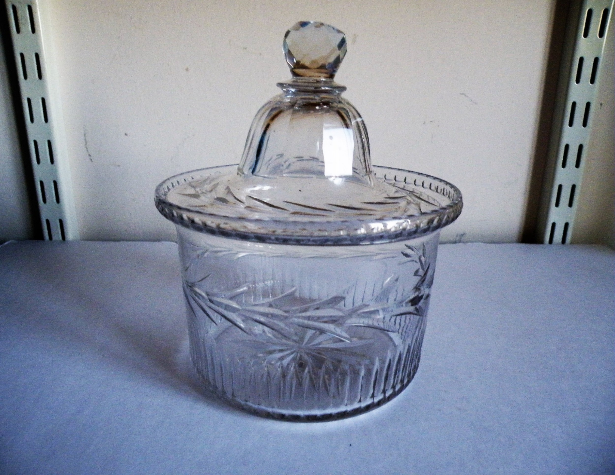 a george iii cut glass butter dish and cover