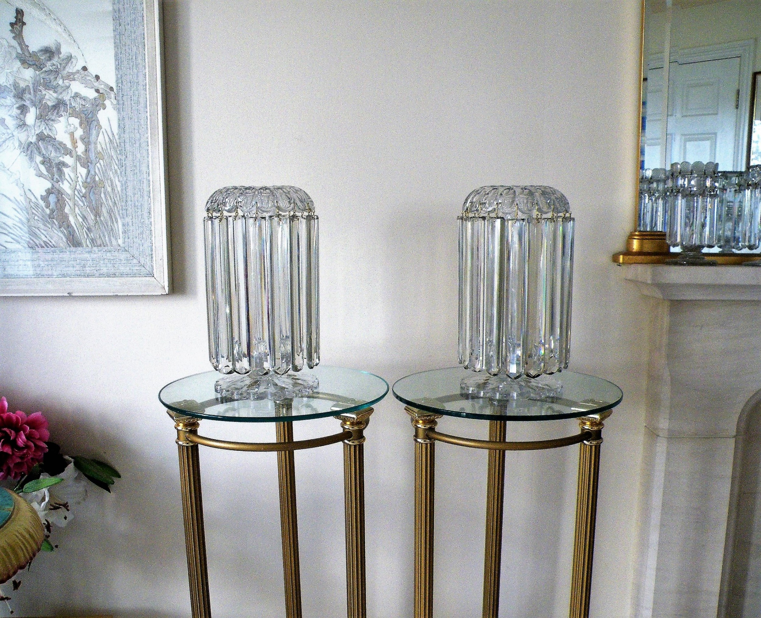 a rare and important large pair of regency cut glass lusters by john blades of london