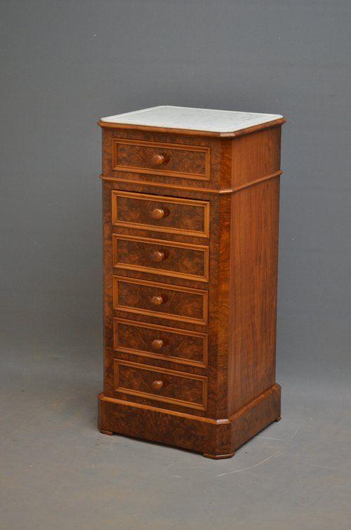 fine continental cabinet bedside cupboard