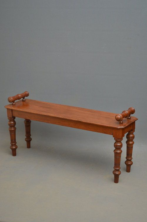 victorian hall bench mahogany window seat