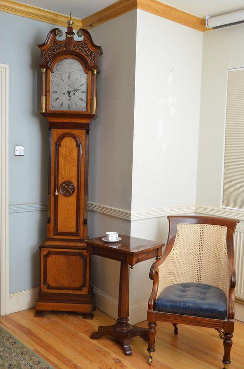 georgian longcase clock by john scott edinburgh