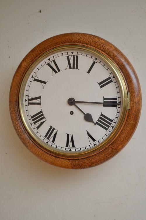 late victorian oak 12 fusee wall clock