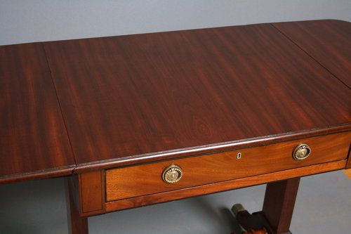 small regency sofa table in mahogany