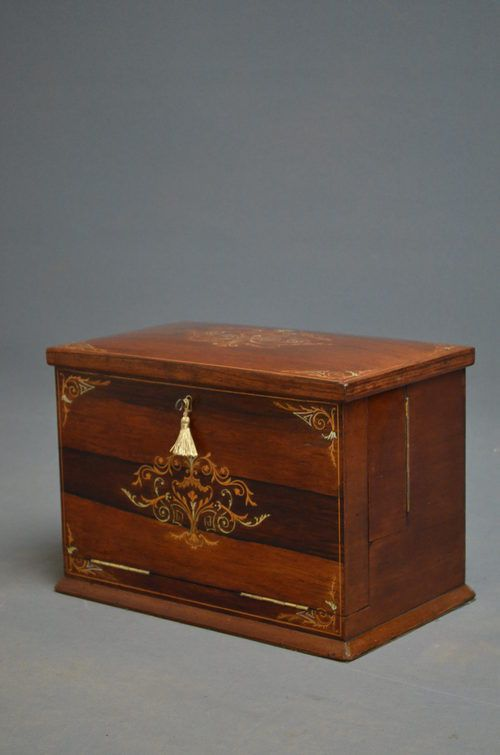 victorian rosewood stationary box writing slope