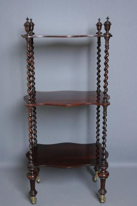 early victorian whatnot in rosewood