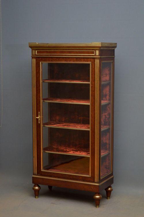 Nimbus Antiques · VICTORIAN WALNUT PIER DISPLAY CABINET