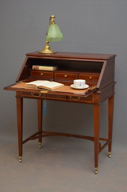 elegant mahogany bureau by maple co