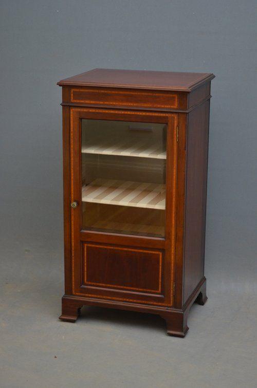 elegant edwardian mahogany cabinet