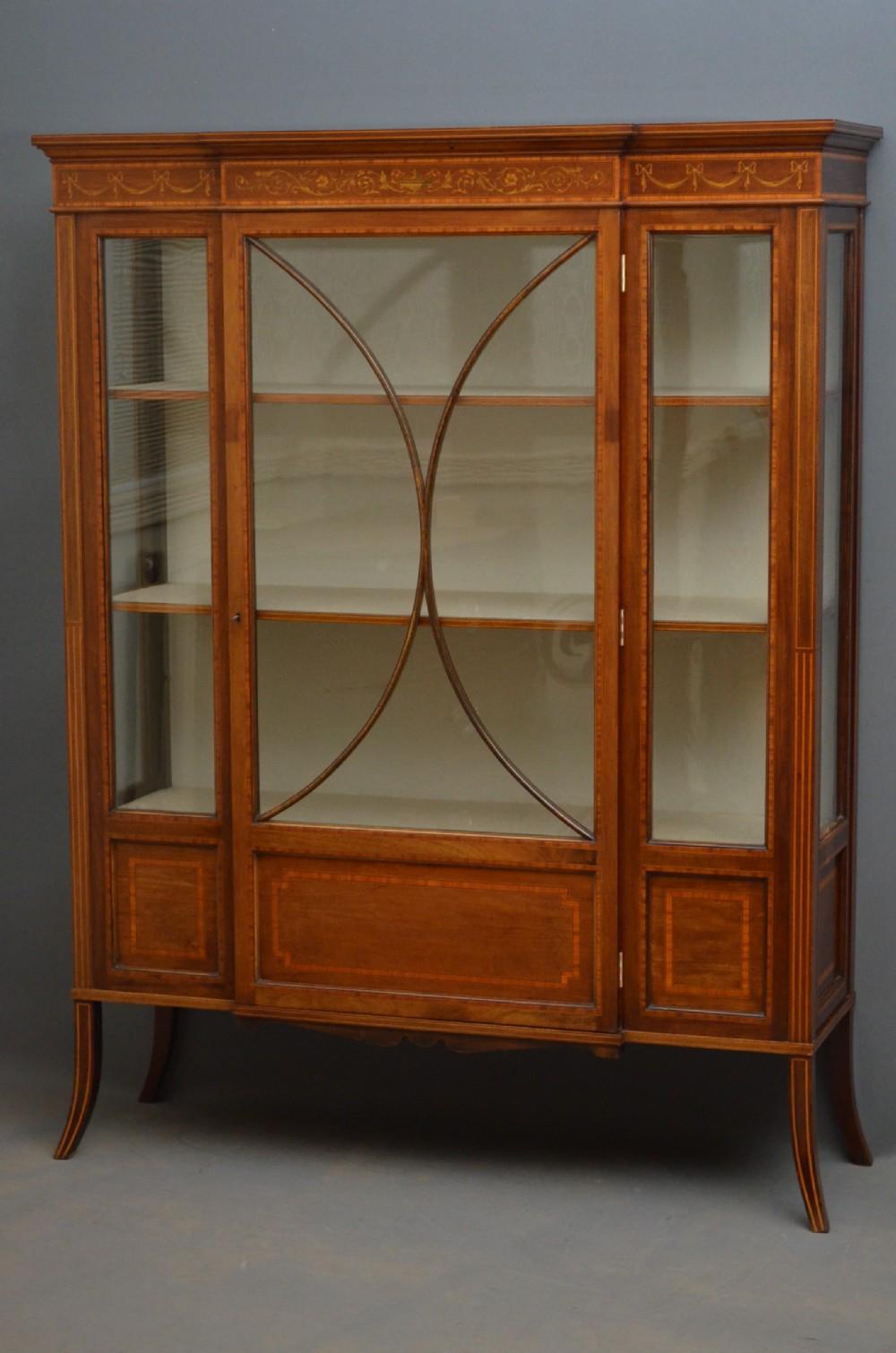 edwardian display cabinet vitrine - Edwardian Display Cabinet - Vitrine 251886 Sellingantiques.co.uk