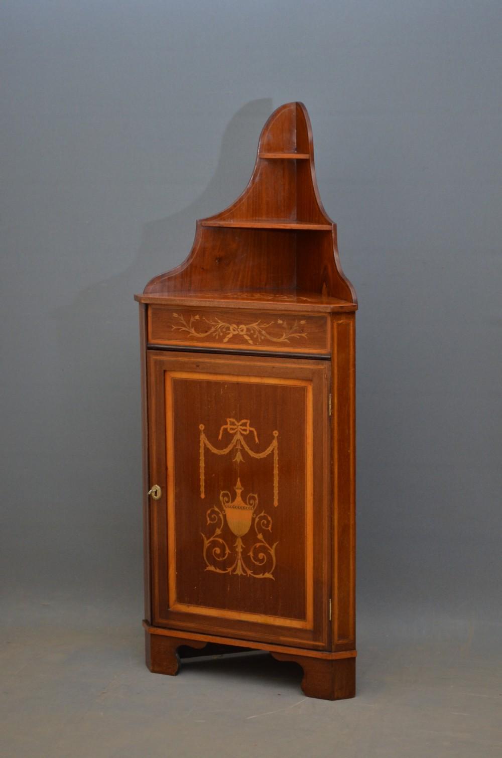 unusual edwardian corner cupboard drinks cabinet