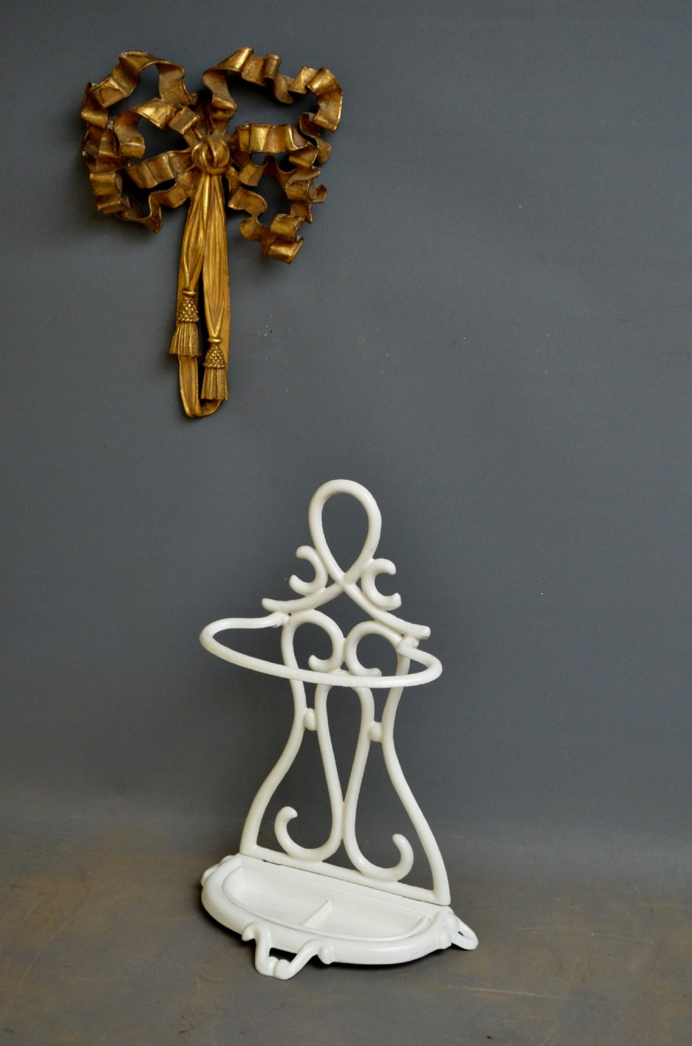 art nouveau enameled umbrella stand stick stand