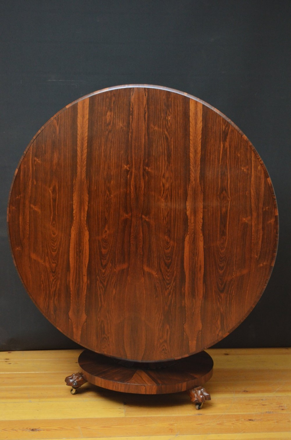 elegant william iv dining table in rosewood centre table breakfast table