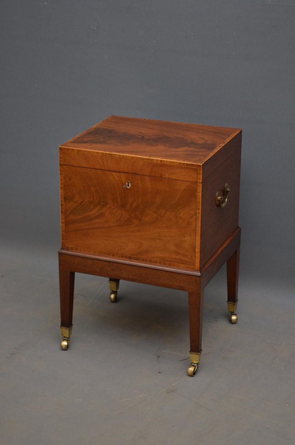 georgian flamed mahogany cellaret