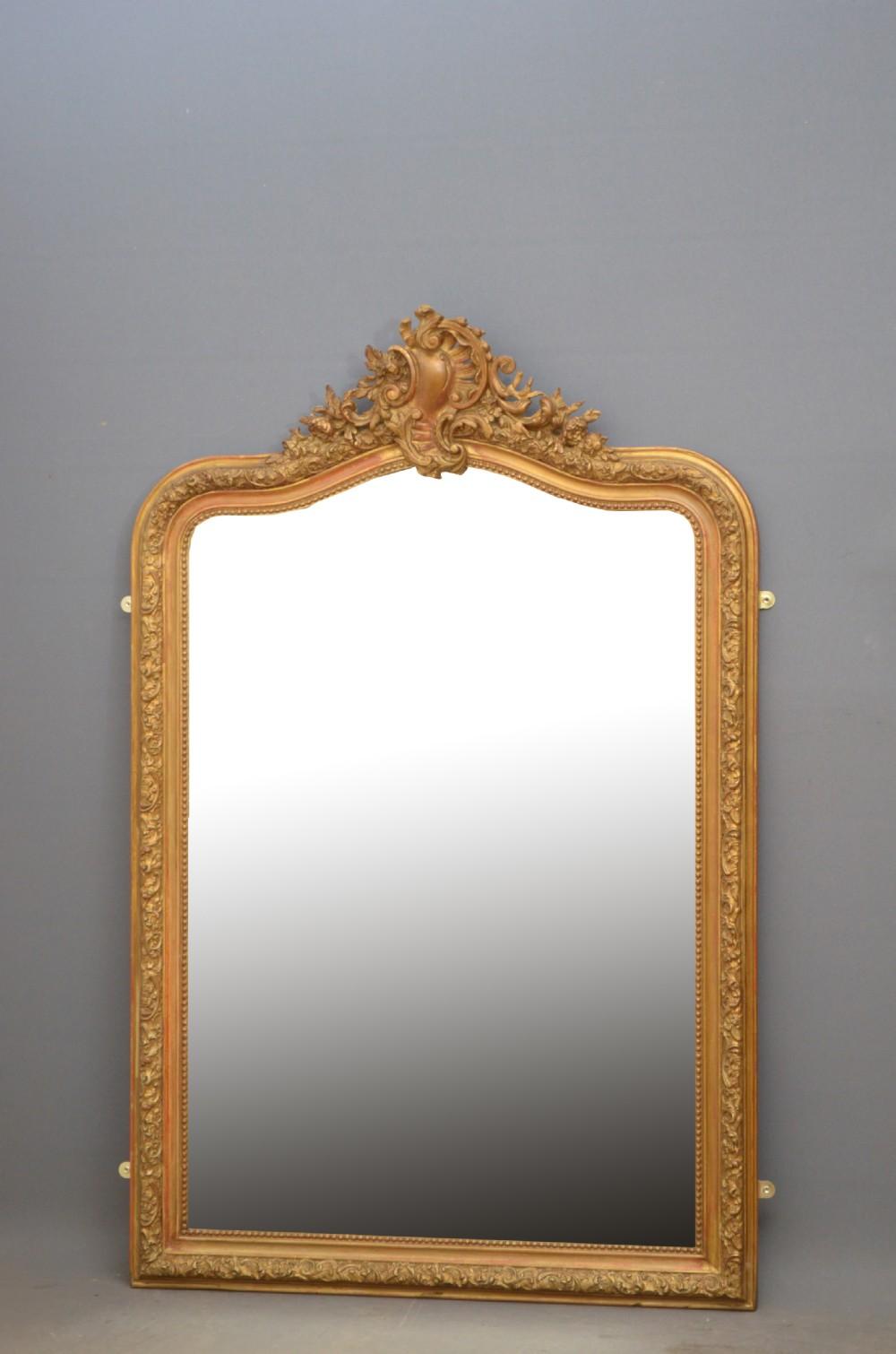 louise philippe gilt wall mirror