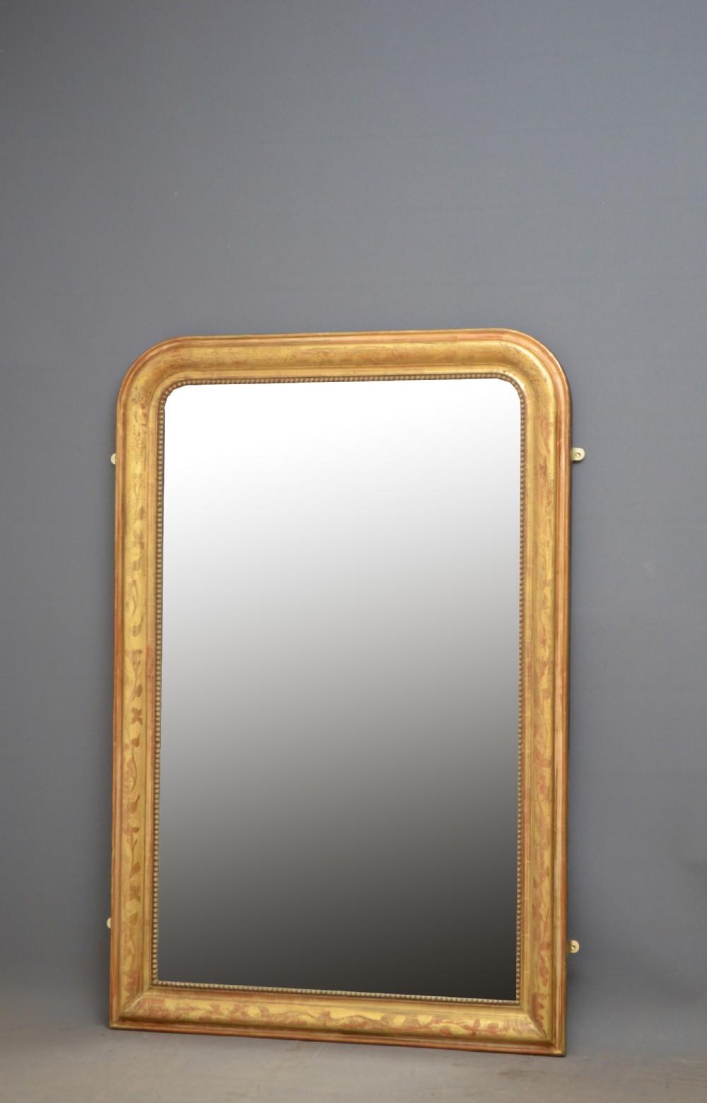 attractive 19th century giltwood mirror