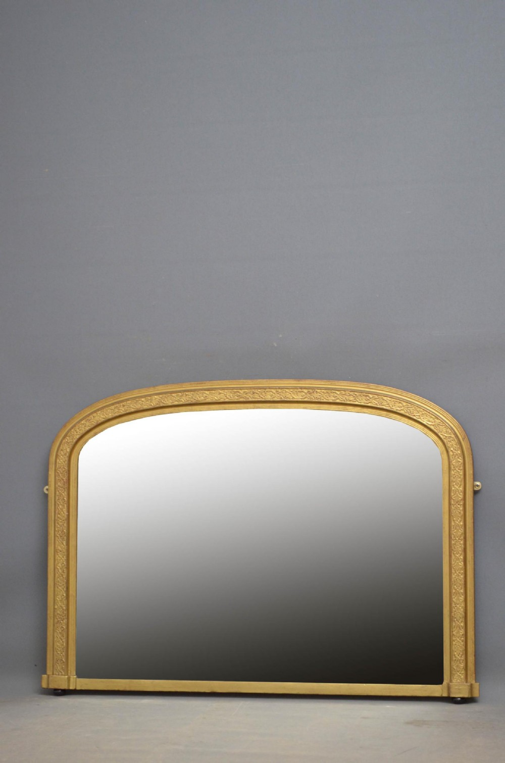 victorian gilt overmantel mirror