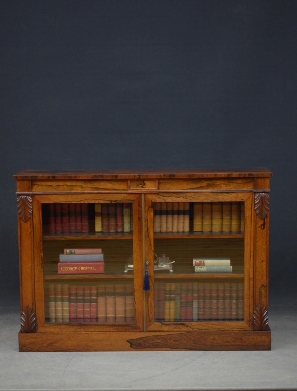 william iv rosewood chiffonier bookcase