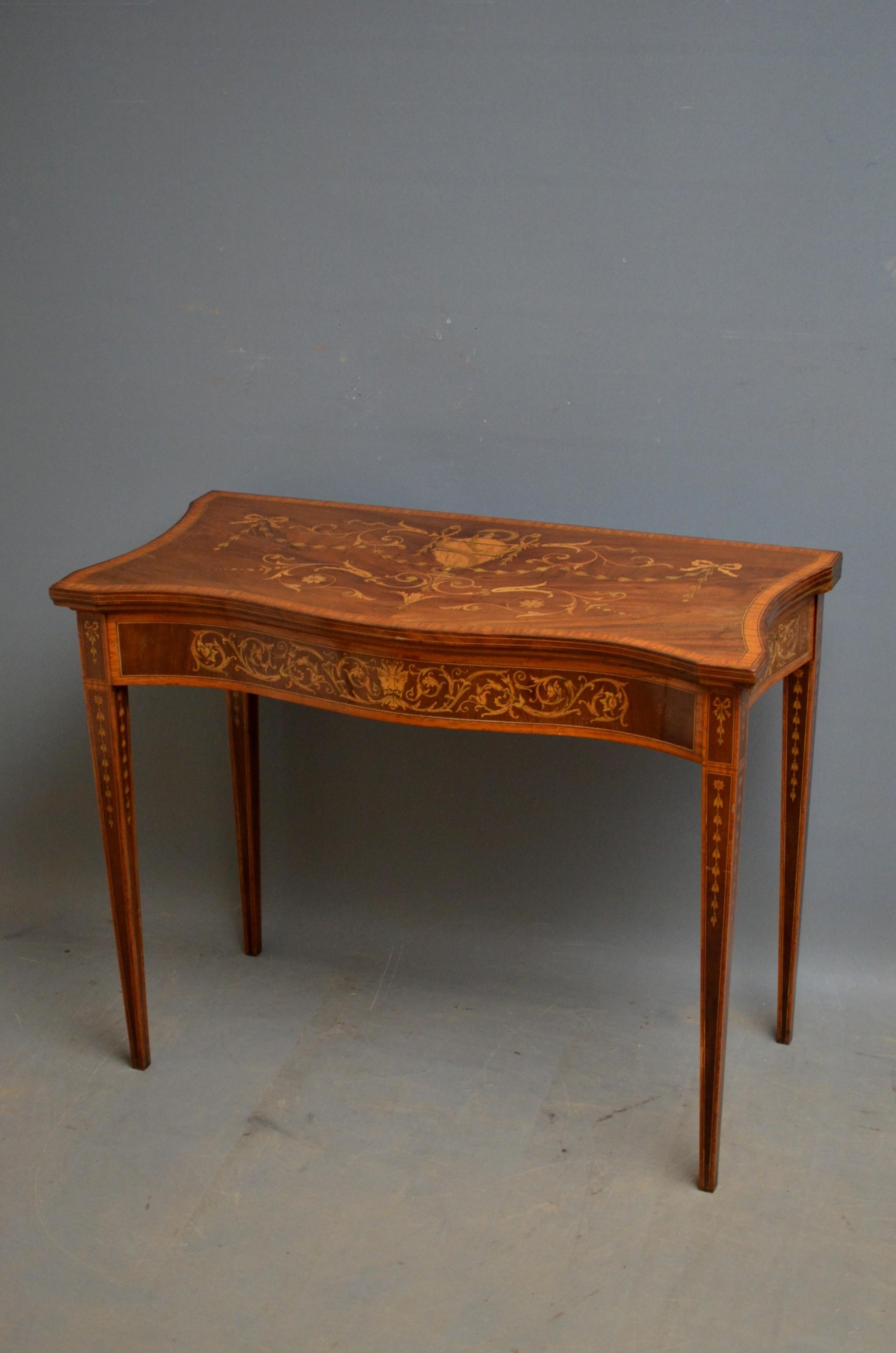 sheraton revival card table