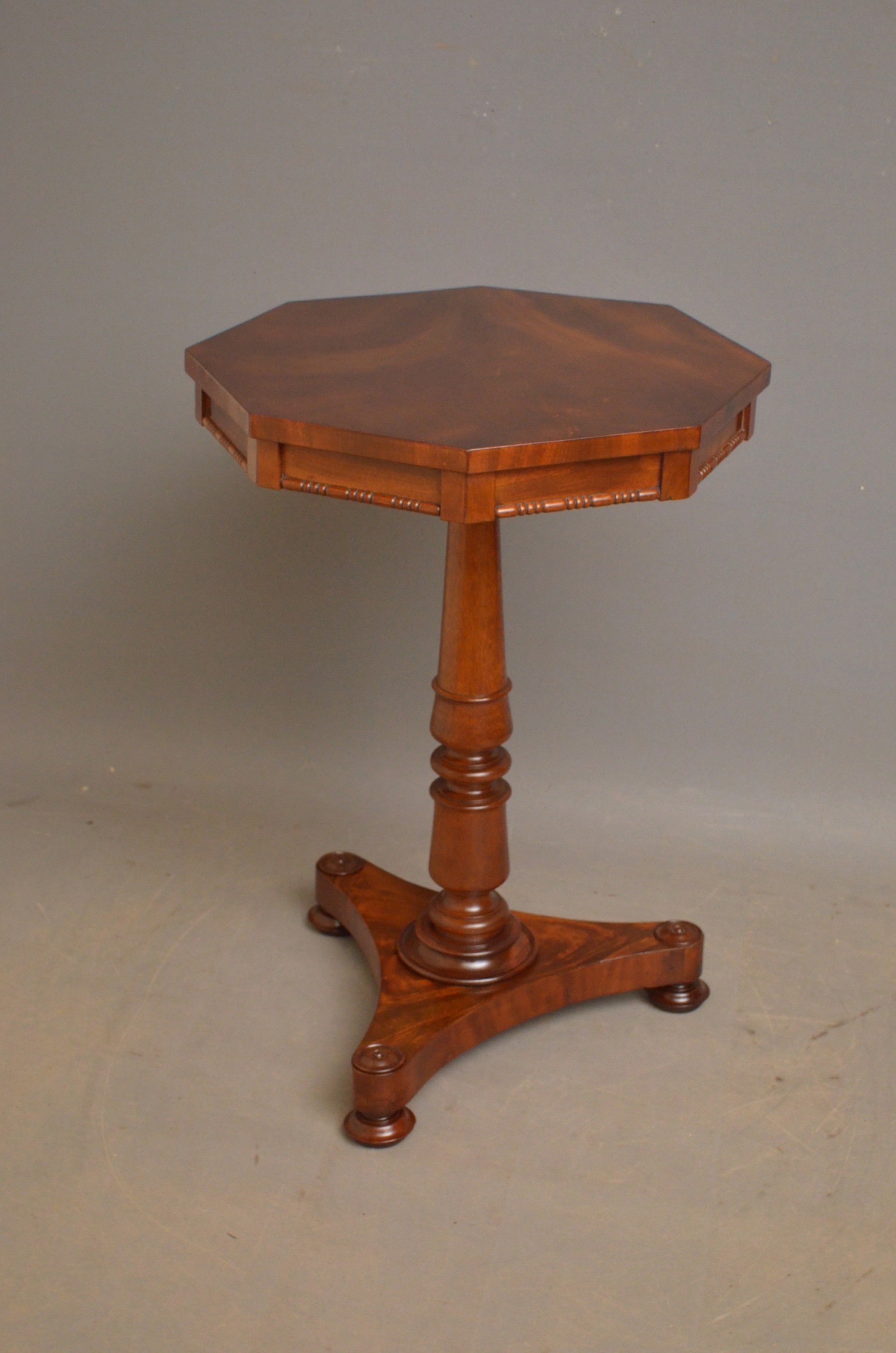early victorian flamed mahogany occasional table