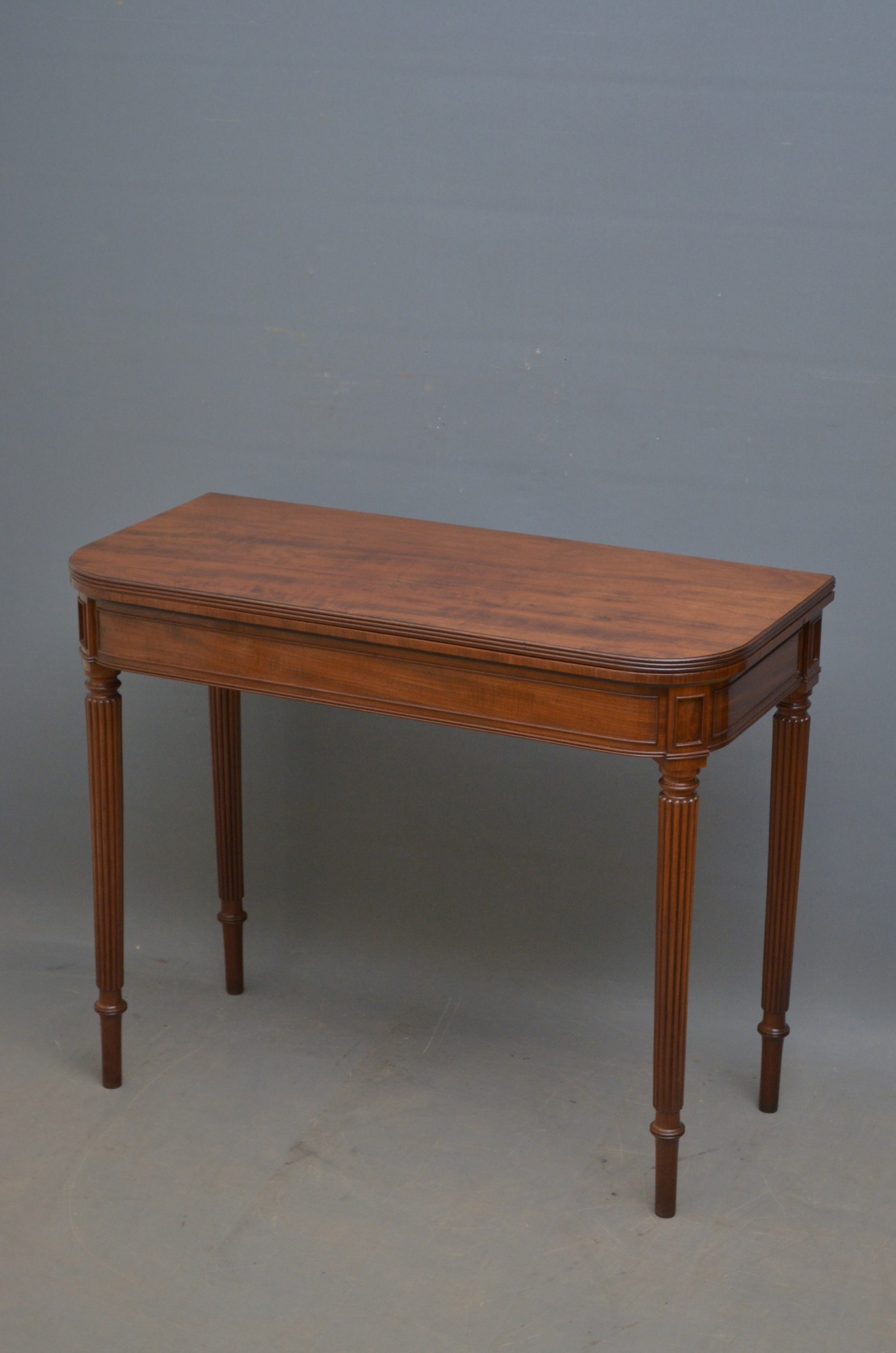 regency mahogany card table in the manner of gillows
