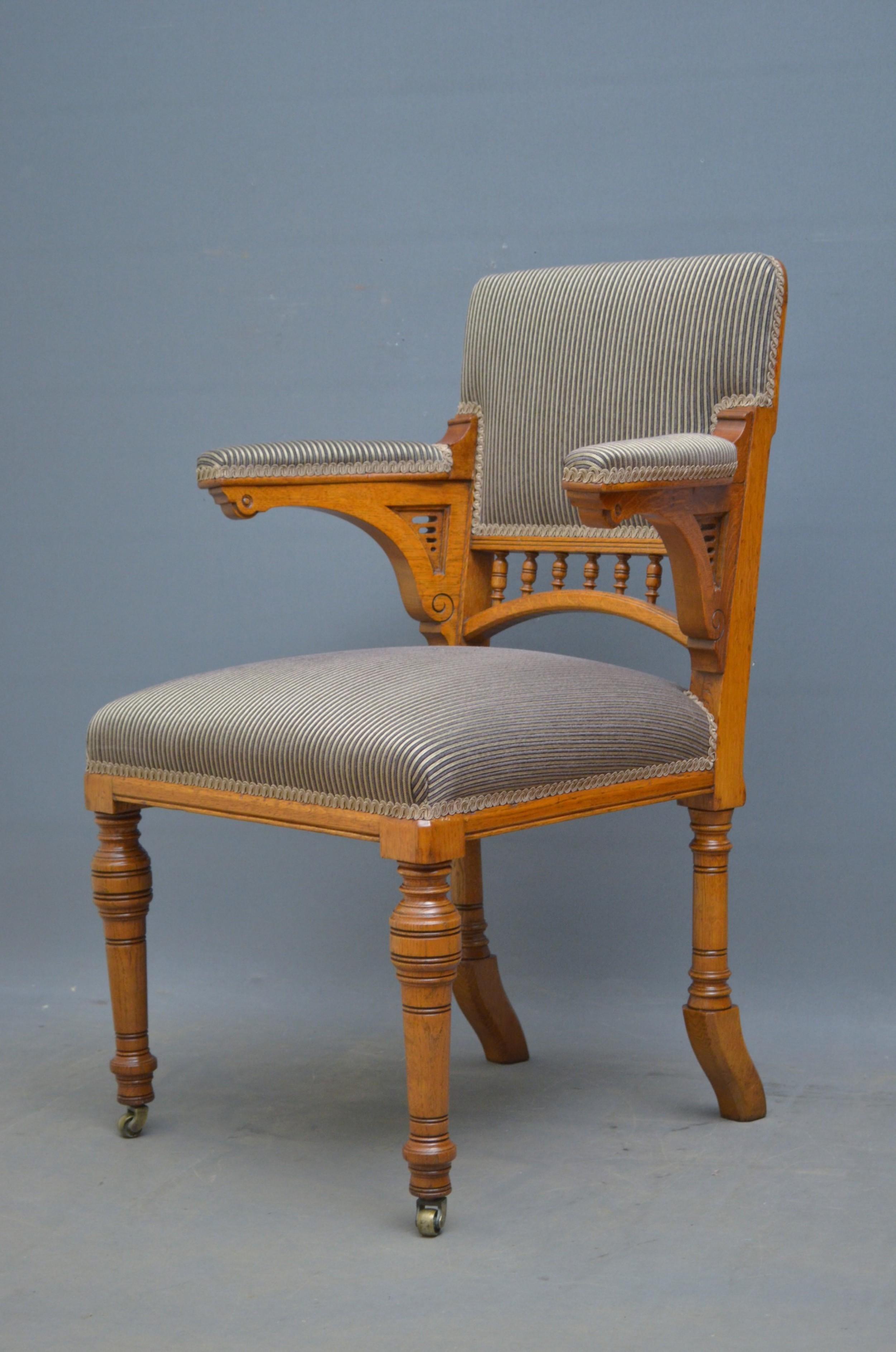 aesthetic movement oak desk chair
