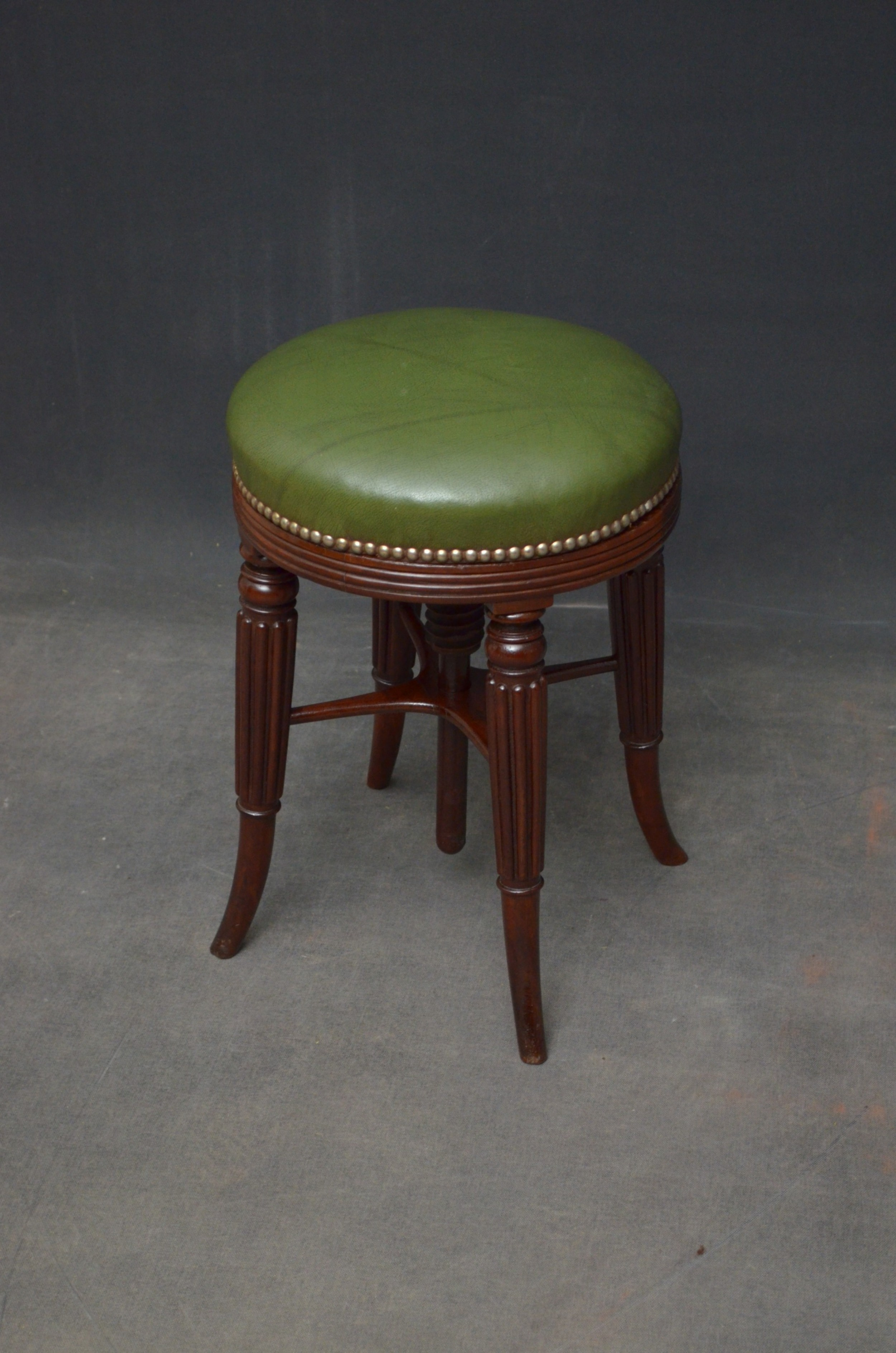 regency mahogany piano stool