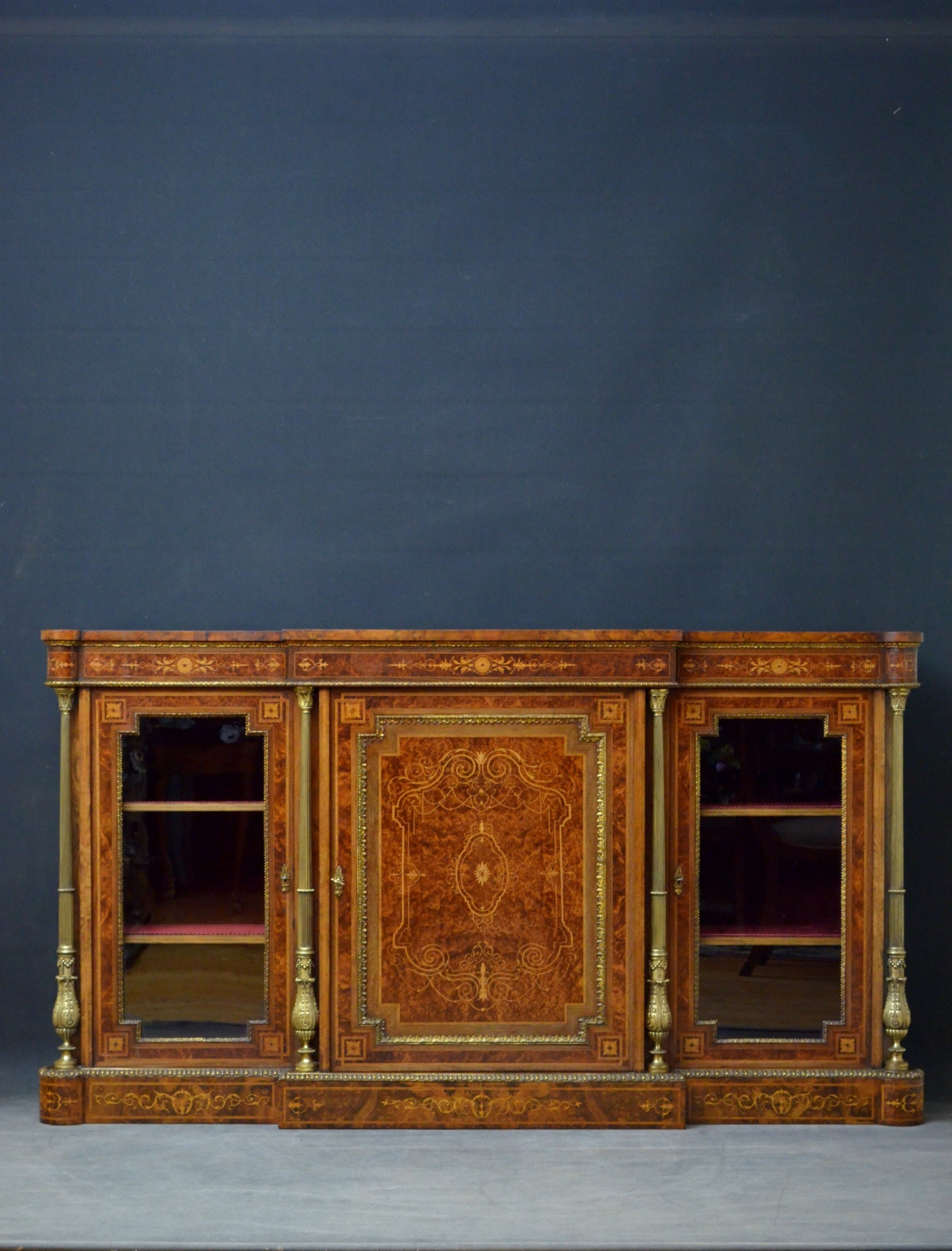 exhibition quality victorian credenza by jw lomax