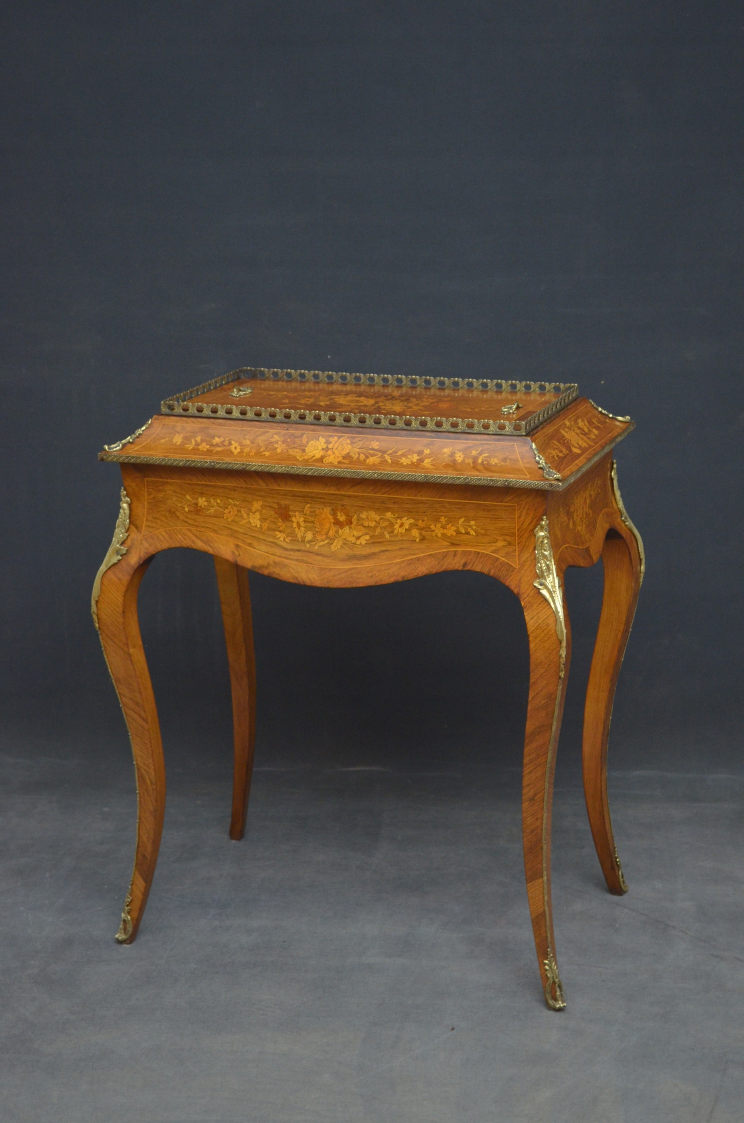 french rosewood and inlaid jardiniere
