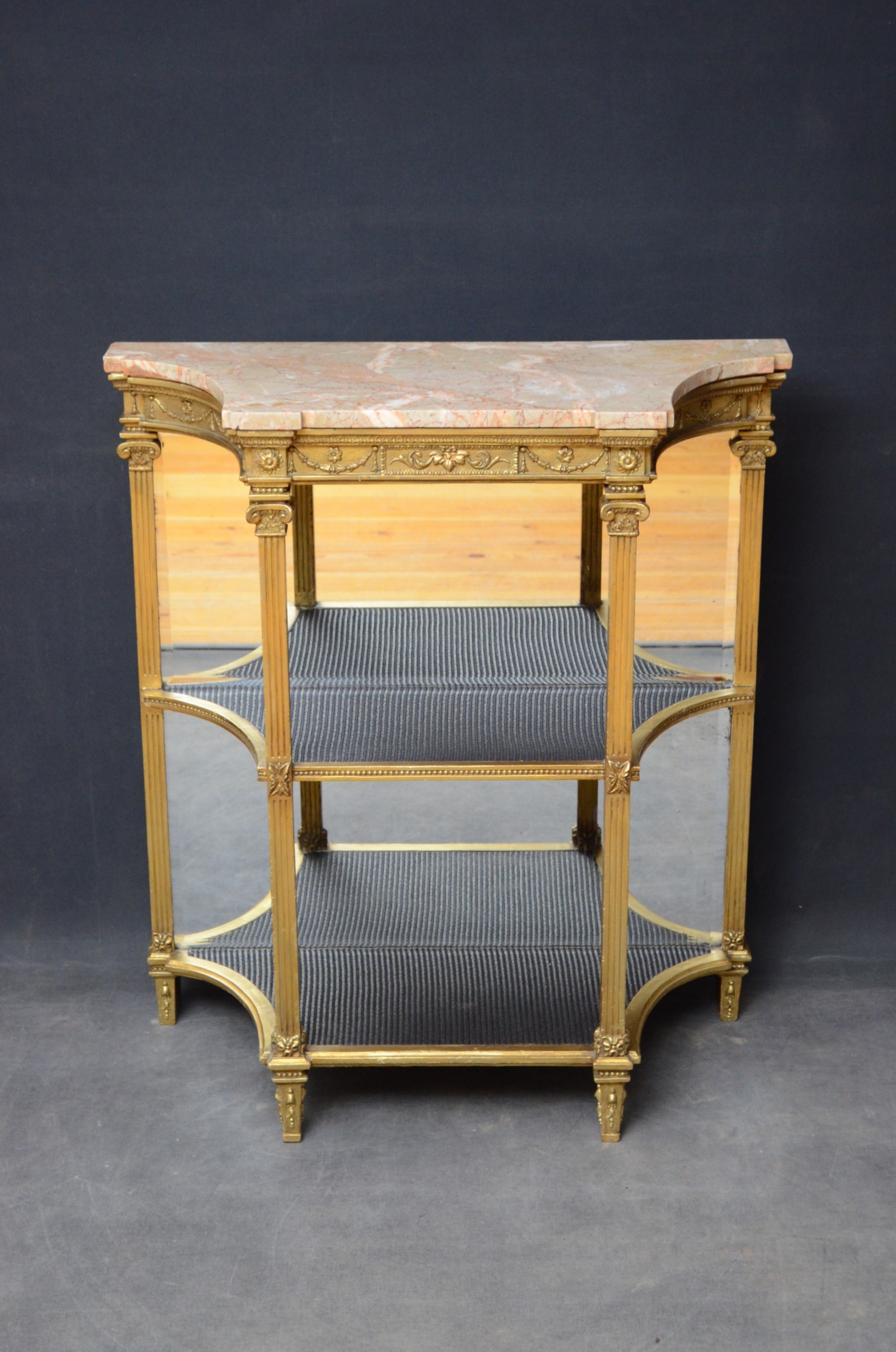 victorian giltwood console table