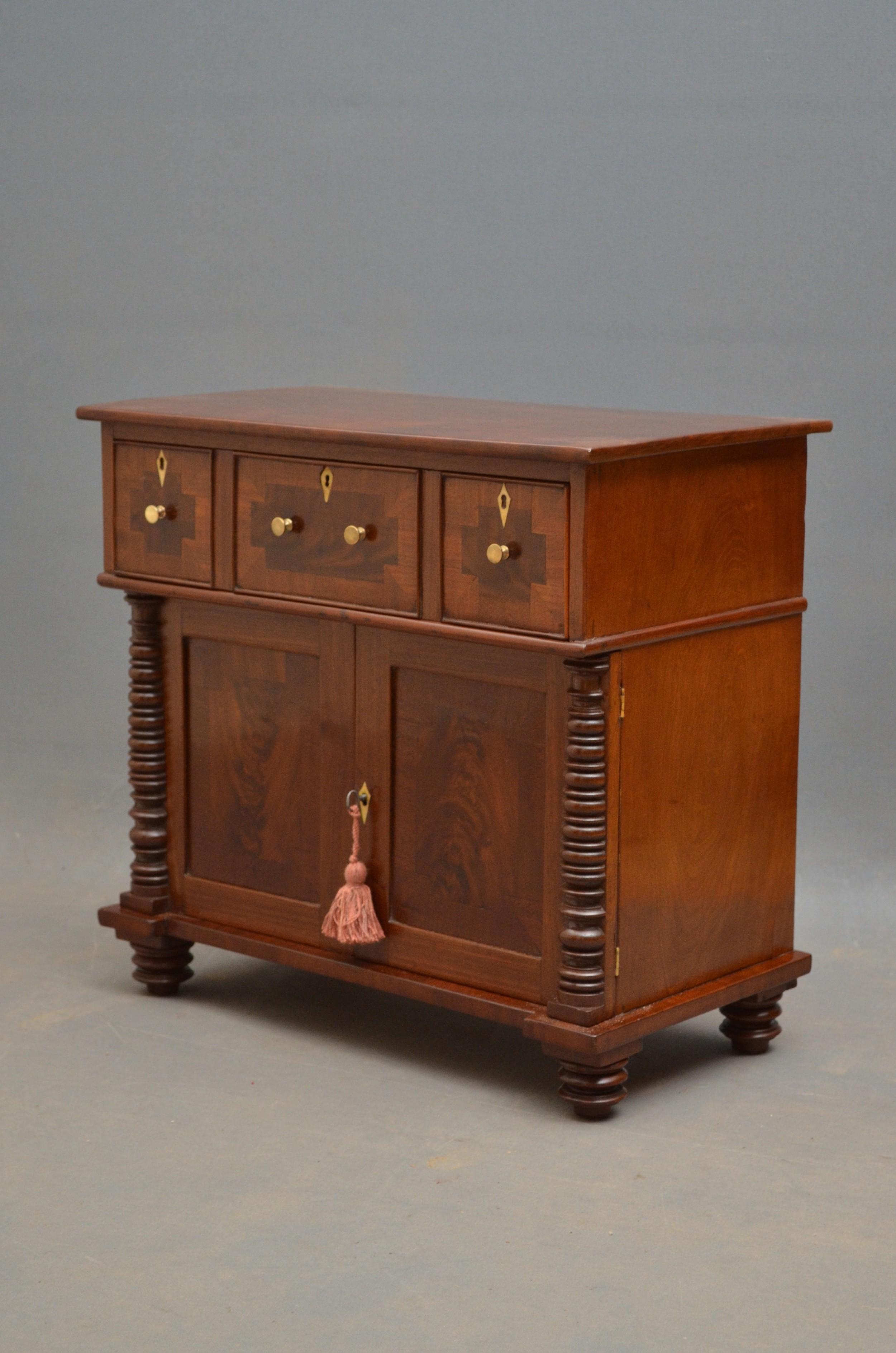 miniature regency mahogany chiffonier